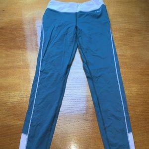 Bebe sport grey pink leggings tights
